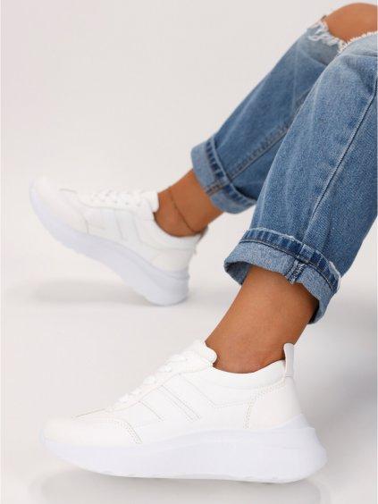 biele damske tenisky LA130WHITE 1