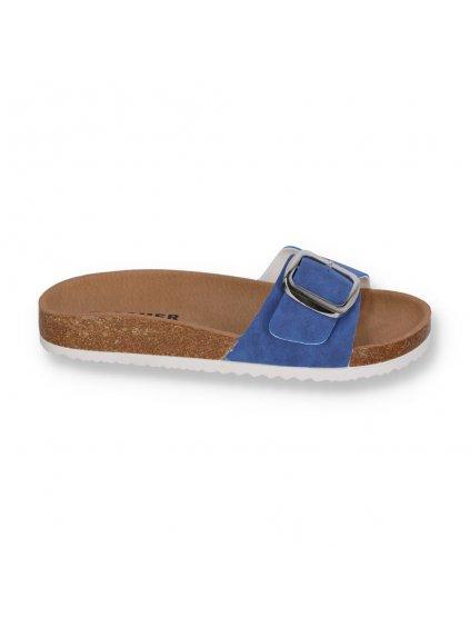 korkove damske slapky modre SAR26BLUE 1