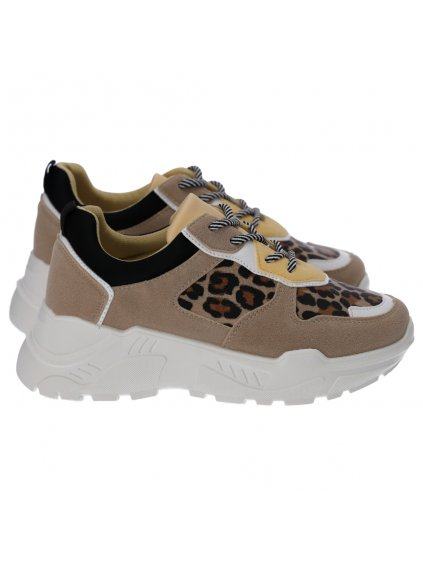 leopardie tenisky na platforme bezove zlte lv8821leopard 1