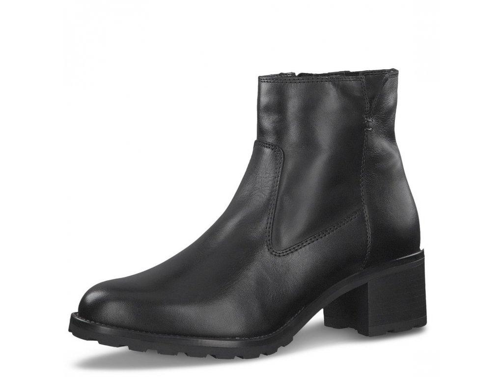 Dámské kotníkové zimní boty Tamaris 1-26074-25 černá pz0