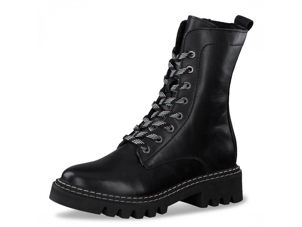Dámské šněrovací kotníkové boty Tamaris 1-25268-25 černá pz0
