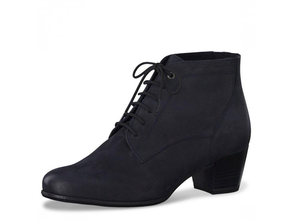 Dámské kotníkové zimní boty Tamaris 1-25115-25 modrá pz0