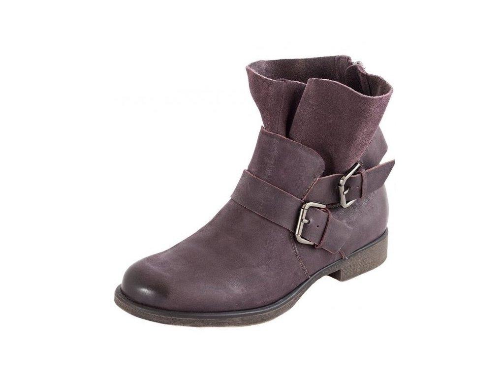 5fa4257ecae Tamaris-dámské kotníkové boty se zipem na patě 1-25041-31 fialová ...