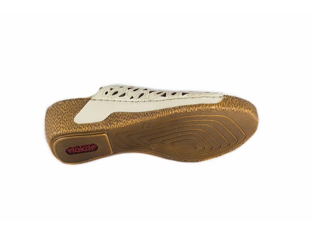 ... Rieker-dámské sandály na klínku s perforovaným vzorem 65695-80 bílá ... a77656b5ad8