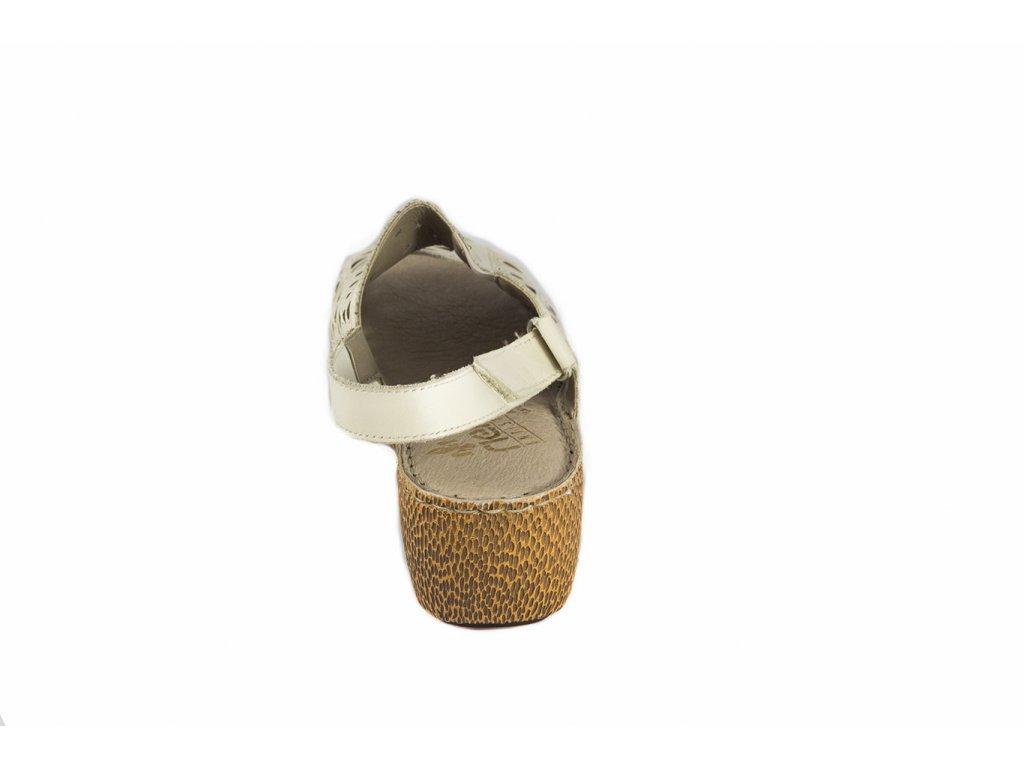 Rieker-dámské sandály na klínku s perforovaným vzorem 65695-80 bílá ... d800de8e47a