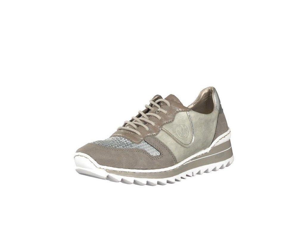 rieker damen sneaker grau m6902 42 7