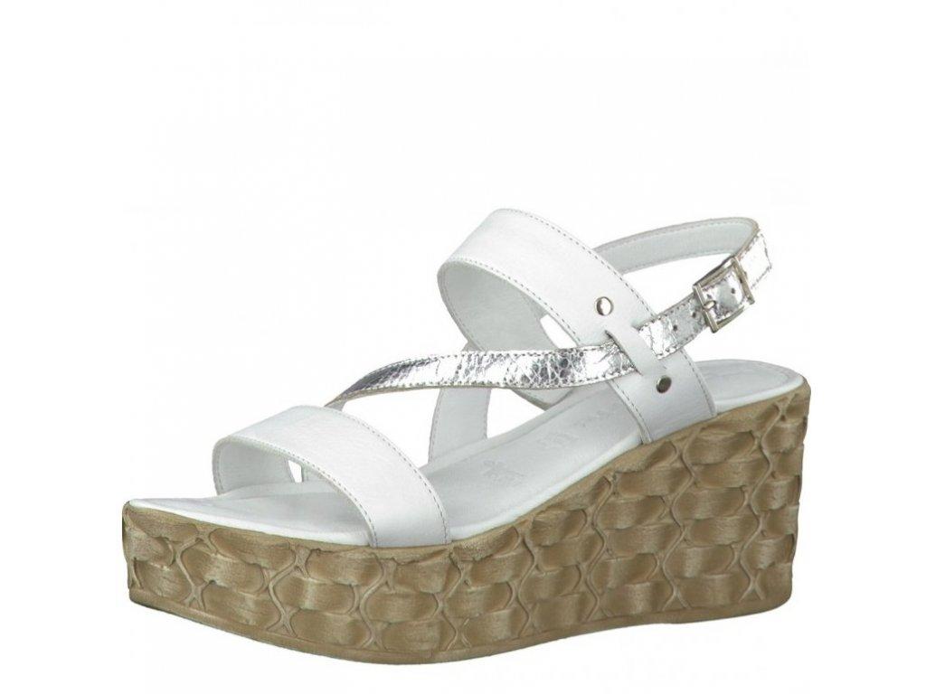 516c45442315 Tamaris-dámské sandály s překříženým páskem přes nárt na klínku 1-28215-28