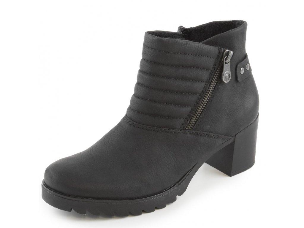Rieker-elegantní dámské kotníkové boty na podpatku s nahrnutím Y8747 ... 2f4ff2b1cc