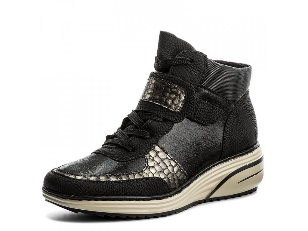7bacd07452 Rieker-dámské kotníkové boty na pohodlné platformě se šněrováním ...