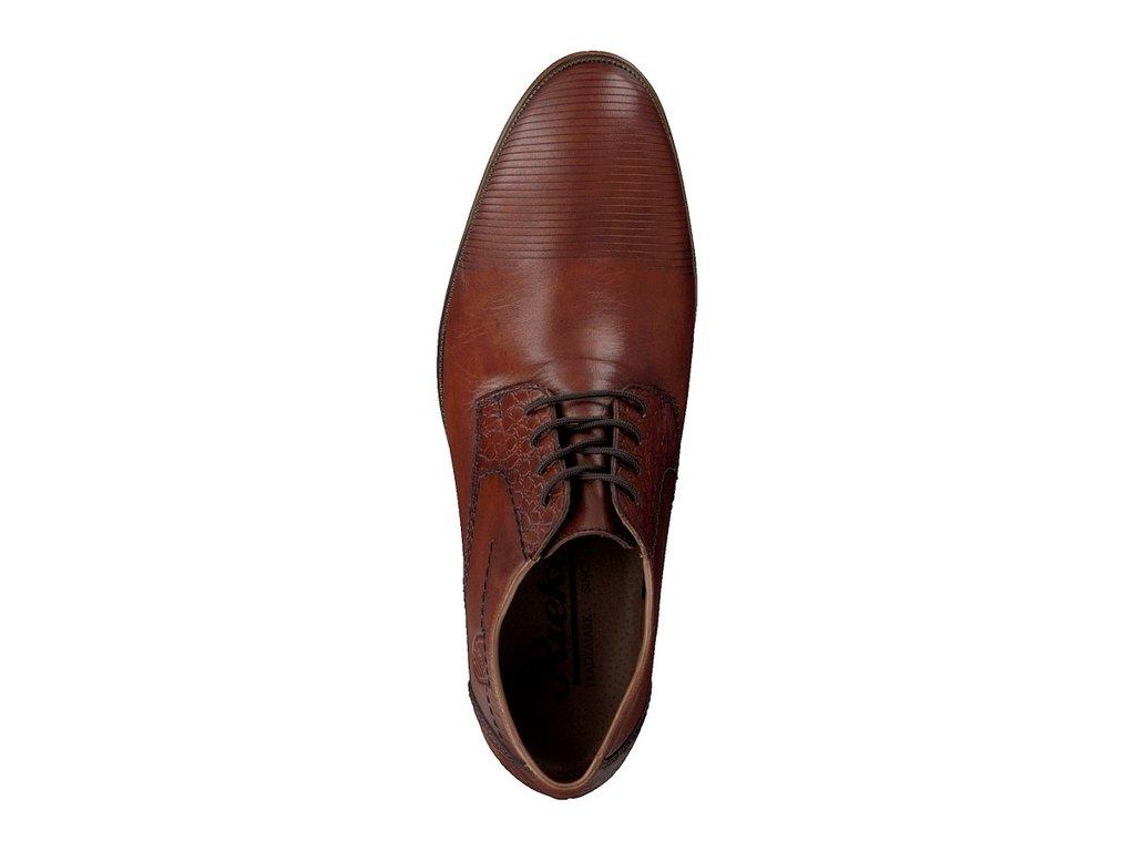 21b852f6a5c Rieker-elegantní pánské společenské boty se zdobením u šněrovní 11621-25  hnědá