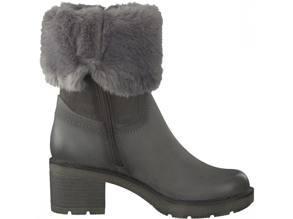 Tamaris- dámské zateplené kotníkové boty s kožíškem a Touch It stélkou 1-26449-  ... 06d583547d
