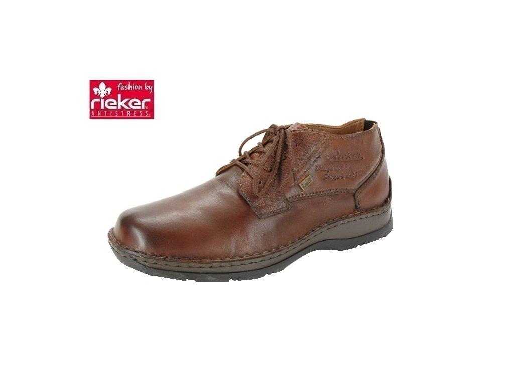 142980c90c Rieker- Pánské kožené kotníkové boty s membránou RiekerTex 05349-24 hnědá