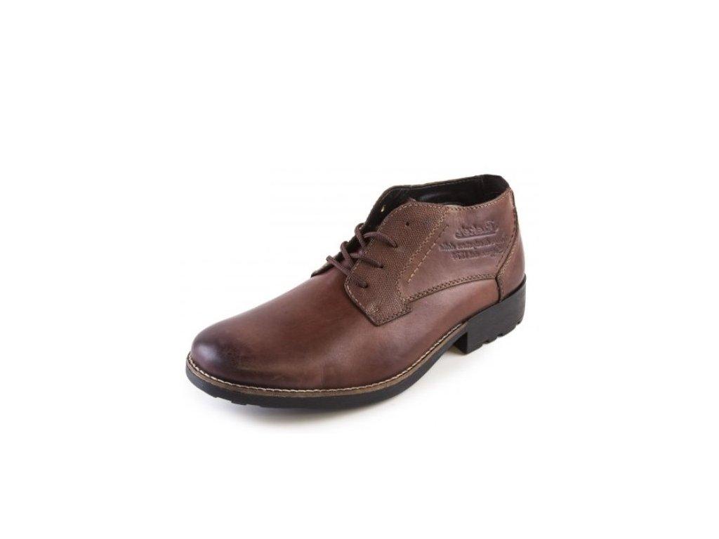 Rieker-Pánské elegantní kožené kotníkové boty se zateplením 16043-24/hnědá