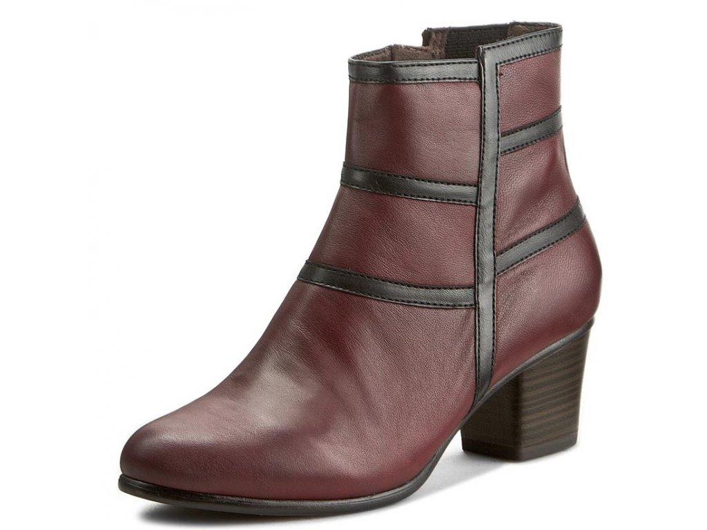 Tamaris-dámské elegantní kotníkové boty na podpatku 1-25017-37 ... 75e5b18235