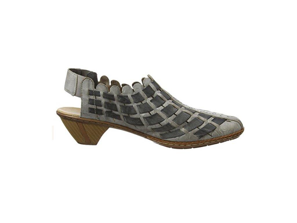 12f75a0117 Rieker-dámské elegantní a pohodlné nazouváky na odlehčené podešvi bez paty  46778-40  ...