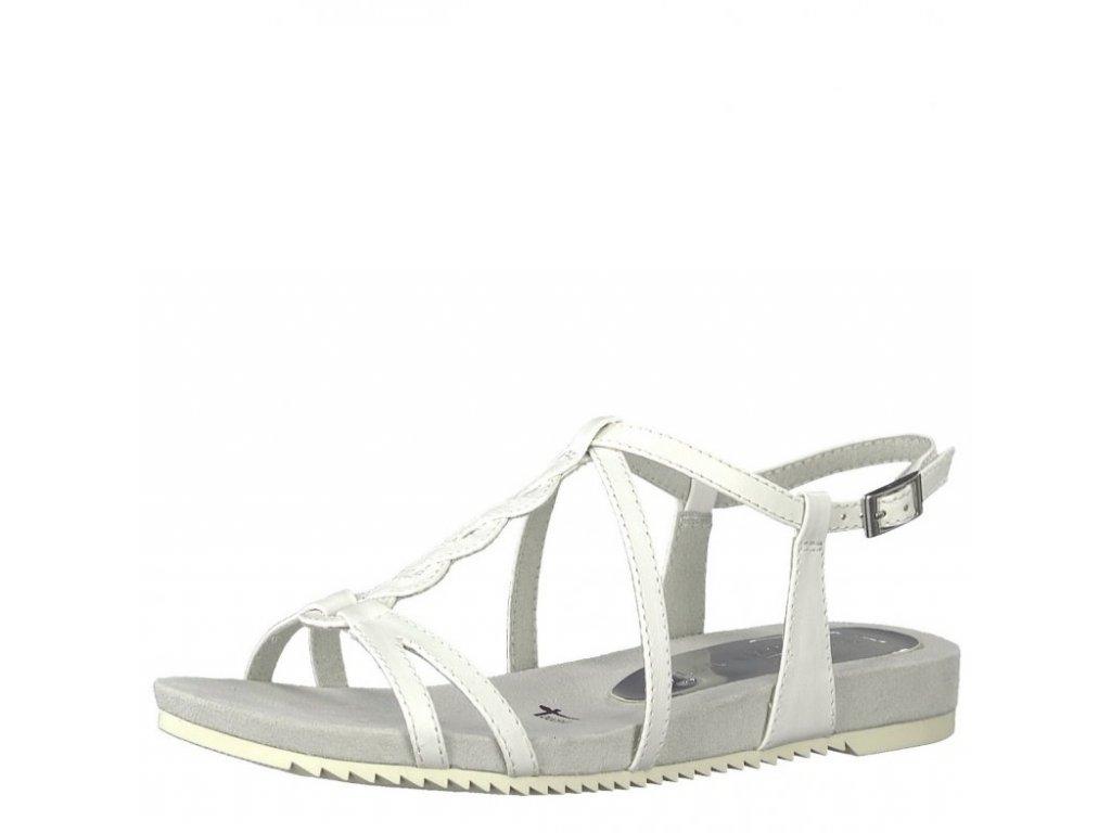 Tamaris-dámské bílé sandály s propletenými pásky na pohodlné platformě 1 -28602-20 9bced19f67