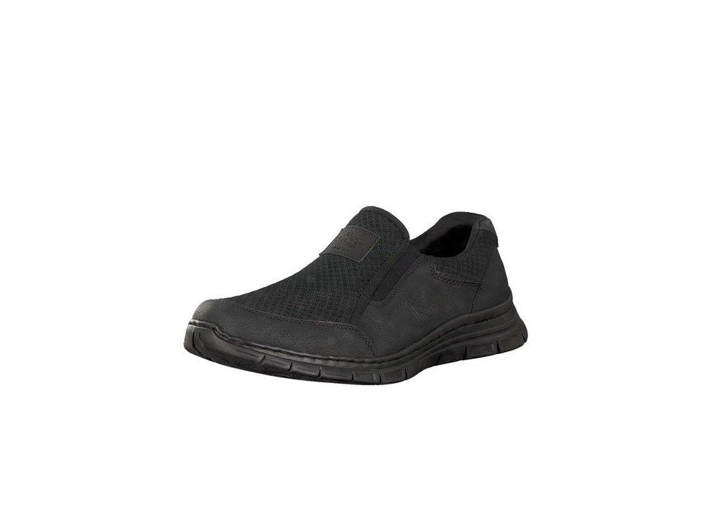 rieker herren slipper schwarz b4873 02 8