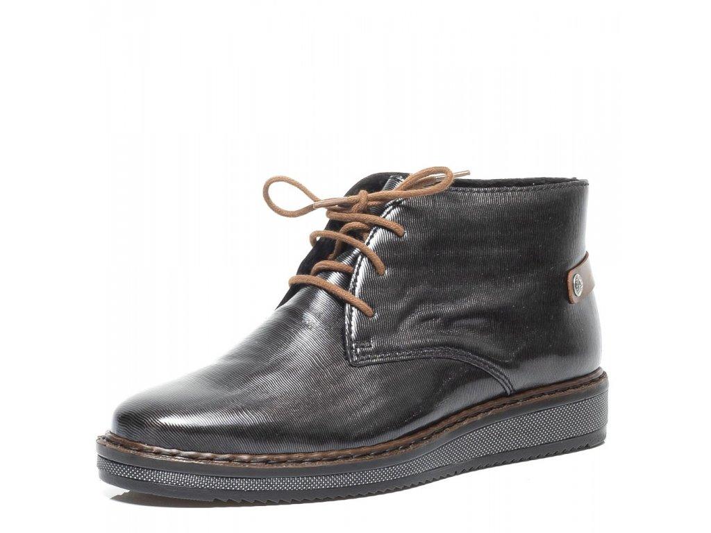e10ae24397 Rieker-dámské kotníkové šněrovací boty s lakem N0330-45 černá ...