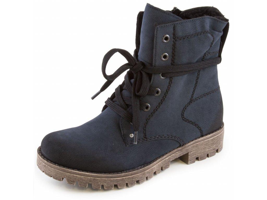 009b61f2d3572 Rieker-dámské kotníkové šněrovací boty s protiskluzovým vzorem 78534-14/ modrá
