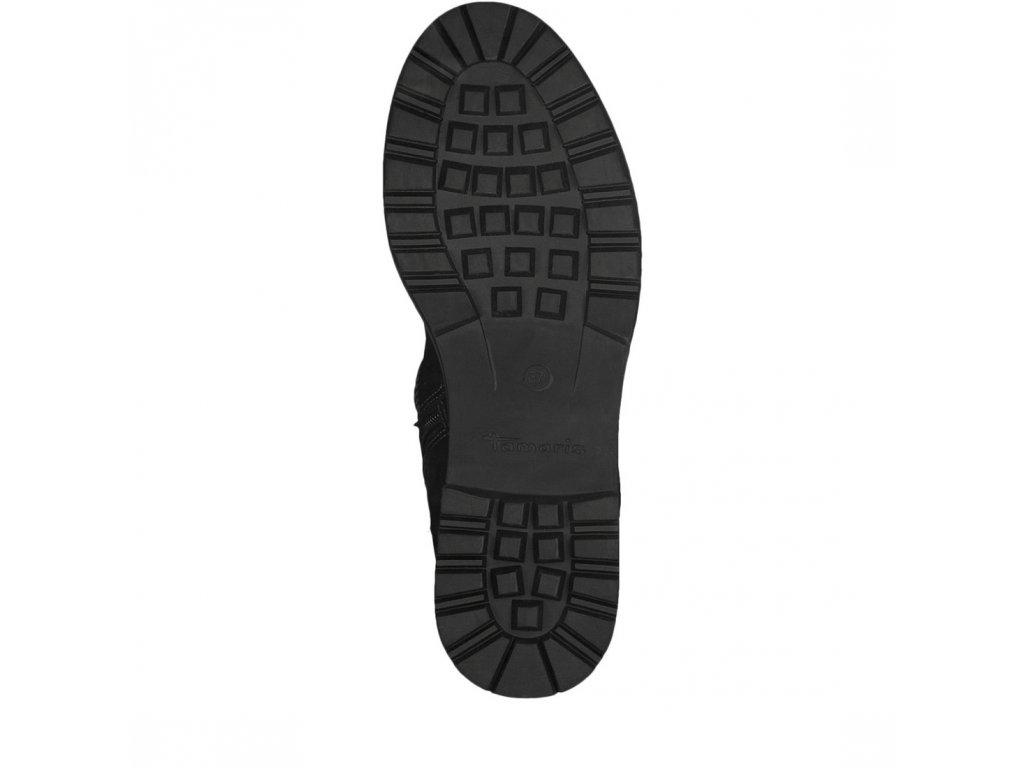 ... Tamaris-dámské kožené kotníkové boty na pohodlné platformě 1-26433-21  černá ... c9447fe104