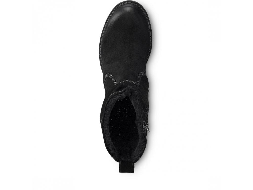 ... Tamaris-dámské kožené kotníkové boty na pohodlné platformě 1-26433-21  černá 0a8c437faf