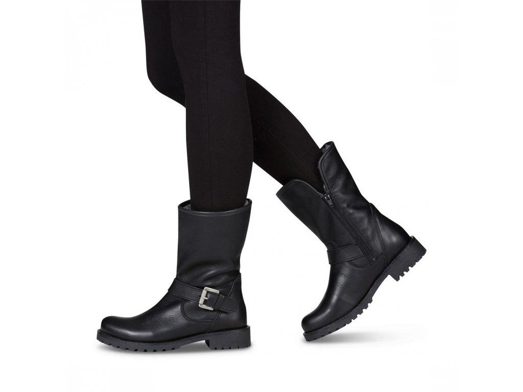 Tamaris-dámské kožené kotníkové motorkářské boty na pohodlné platformě  1-26991-21  ... d5020989f2
