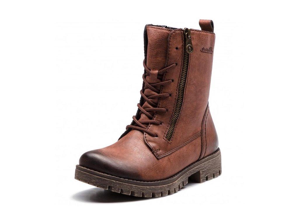 Rieker-dámské kotníkové šněrovací boty vyššího střihu 785C4-35 ... f16656b753