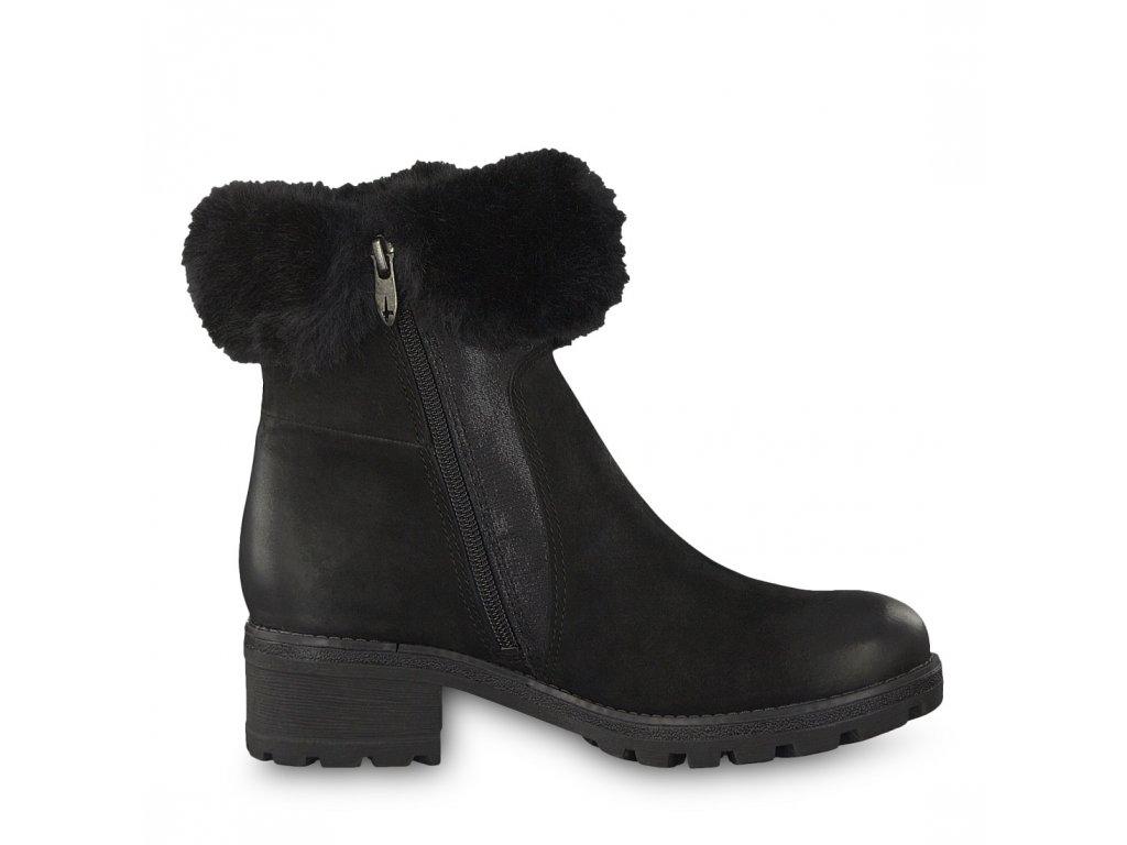 ... Tamaris- dámské zateplené kotníkové boty s kožíškem 1-26436-21 černá ... c2d636b5b8