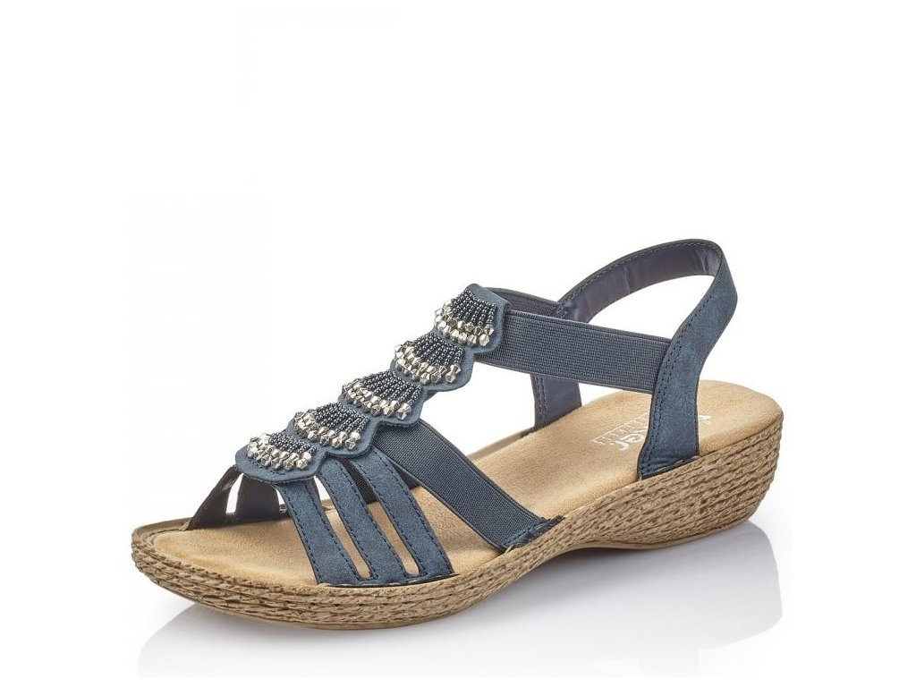 316bf6d4b32c Dámské sandály Rieker 65869-14 Blue j l9