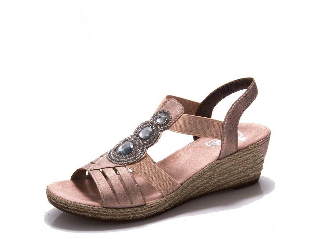 Dámské sandály Rieker 62459-31 Rose j/l9