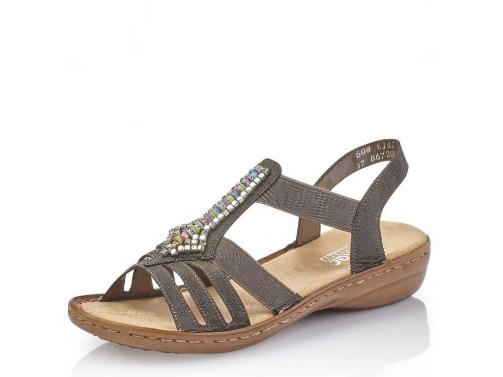 7f719ce09145 Dámské sandály Rieker 608S1-45 Grey j l9