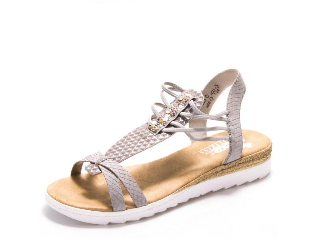 Dámské sandály Rieker 63029-42 Grey j/l9