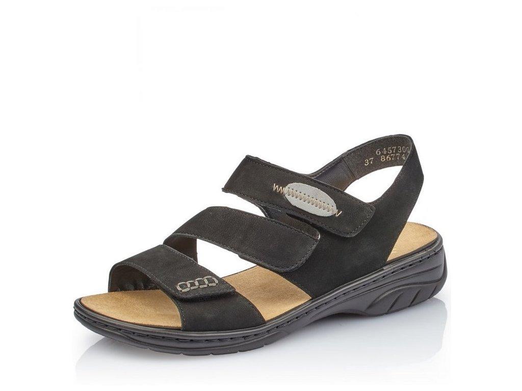 Dámské zdravotní sandály Rieker 64573-00 Black j/l9