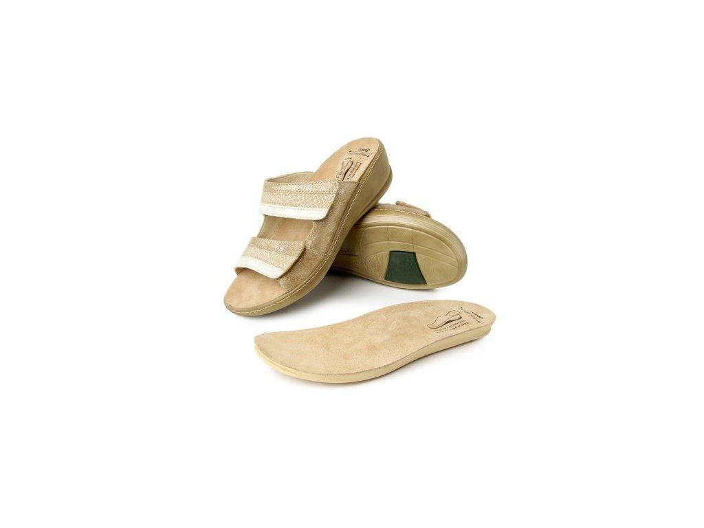 0048237 batz hedi gold damske zdravotni pantofle 510