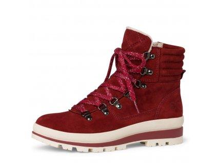 Dámské kotníkové zimní boty 1-25804-25 červená pz0