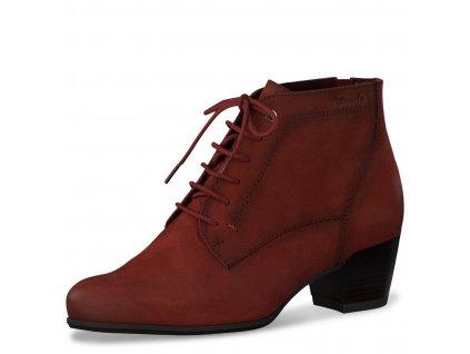 Dámské kotníkové zimní boty Tamaris 1-25115-25 scarlet pz0