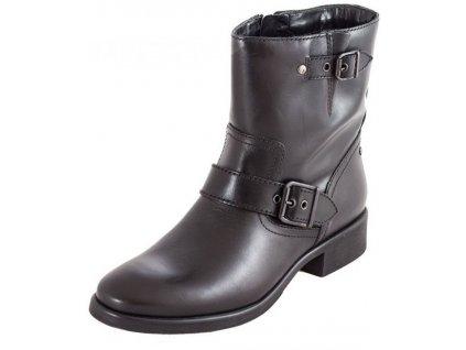 Tamaris-dámské kotníkové boty zdobené jemnou sponou 1-25035-31/černá