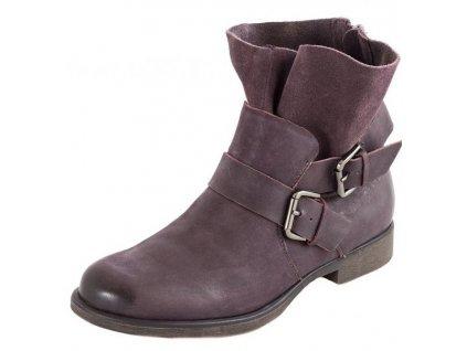 Tamaris-dámské kotníkové boty se zipem na patě 1-25041-31/fialová