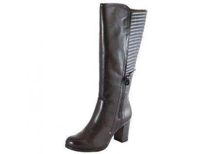 Tamaris-elegantní dámské kozačky na platformě 1-25550-25/černá