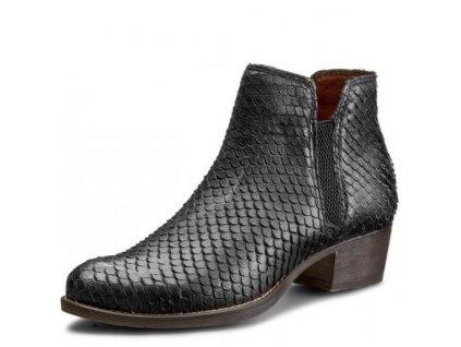 Tamaris-dámské kotníkové boty na pohodlné podrážce s gumou po straně 1-25340-27/černá
