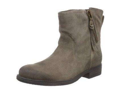 Tamaris-dámské kotníkové boty se zipem a pohodlnou podrážkou 1-25474-25/béžová