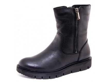 Tamaris- dámské zateplené kotníkové boty na rovné podrážce 1-26497-29/černá