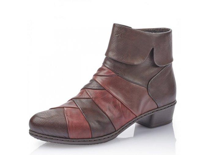 Dámské kotníkové zimní boty Rieker Y0791-26 hnědá p/z9