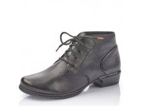 Dámské šněrovací kotníkové boty Rieker 52230-01 černé pz0