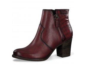 Dámské kotníkové boty Tamaris 1-25338-25 bordová pz0