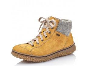 Dámské kotníkové šněrovací boty Rieker Z4243-68 žlutá pz0