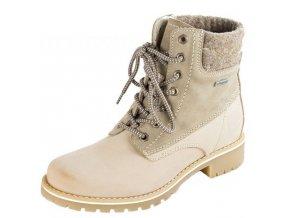 Tamaris-dámské kotníkové boty s membránou na surové gumě 1-25250-25/béžová