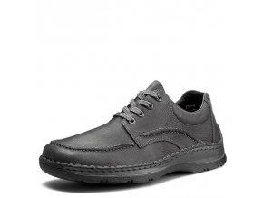 Rieker-pánské boty s ozdobnými švy 05311-48/šedá