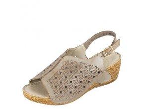 Rieker-dámské sandály s perforovaným vzorem na klínku 65696-62/šedá