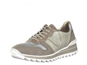 Rieker-dámské tenisky na odlehčené podrážce se stříbrným vzorem M6902-42/šedá
